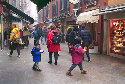 In Venice, small children wander safely in the street