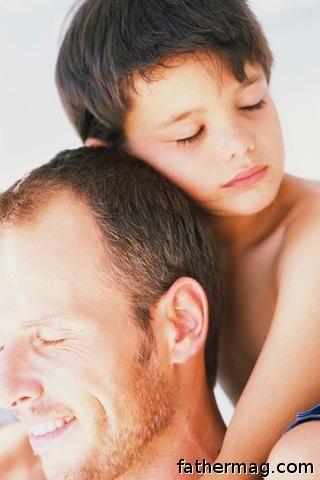 Fatherhood father and son photo
