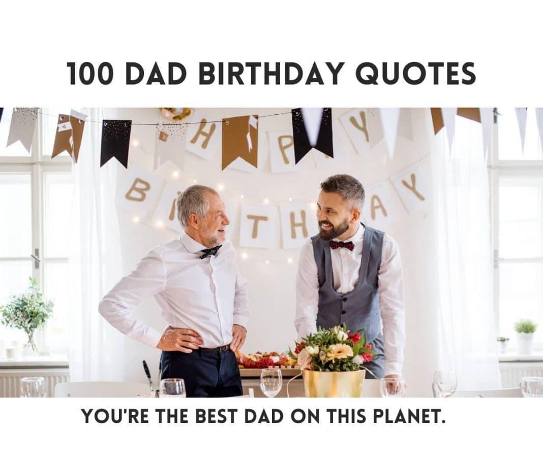 100 Dad Birthday Quotes