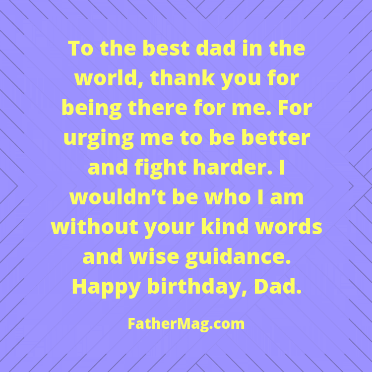 dad birthday message