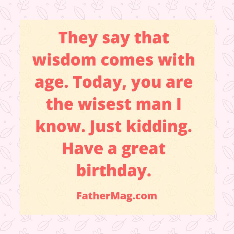 dad birthday messages