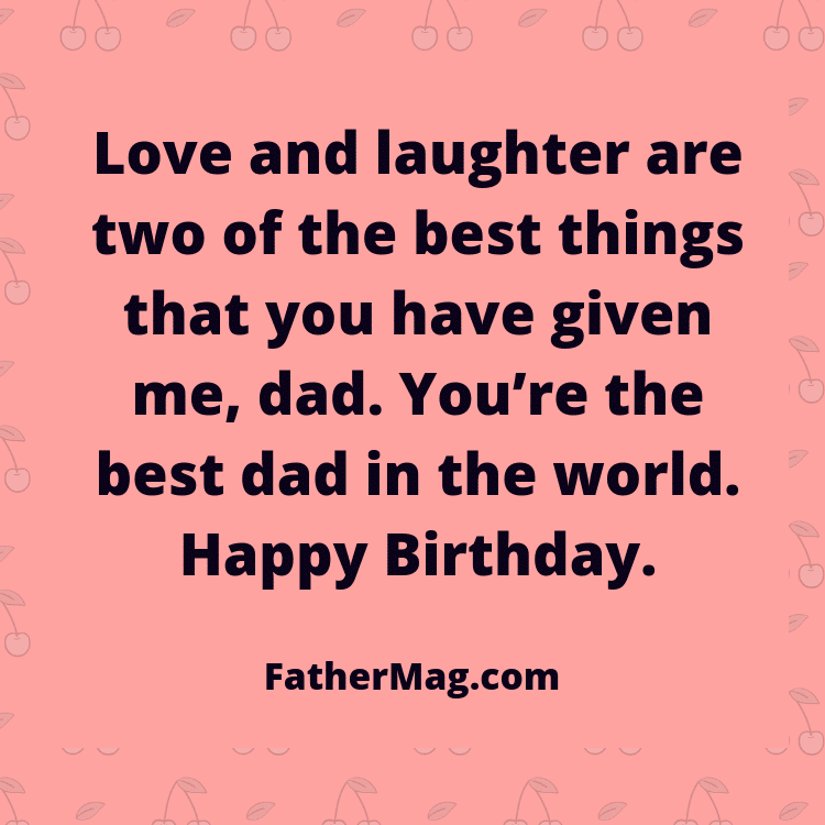 dad birthday wish