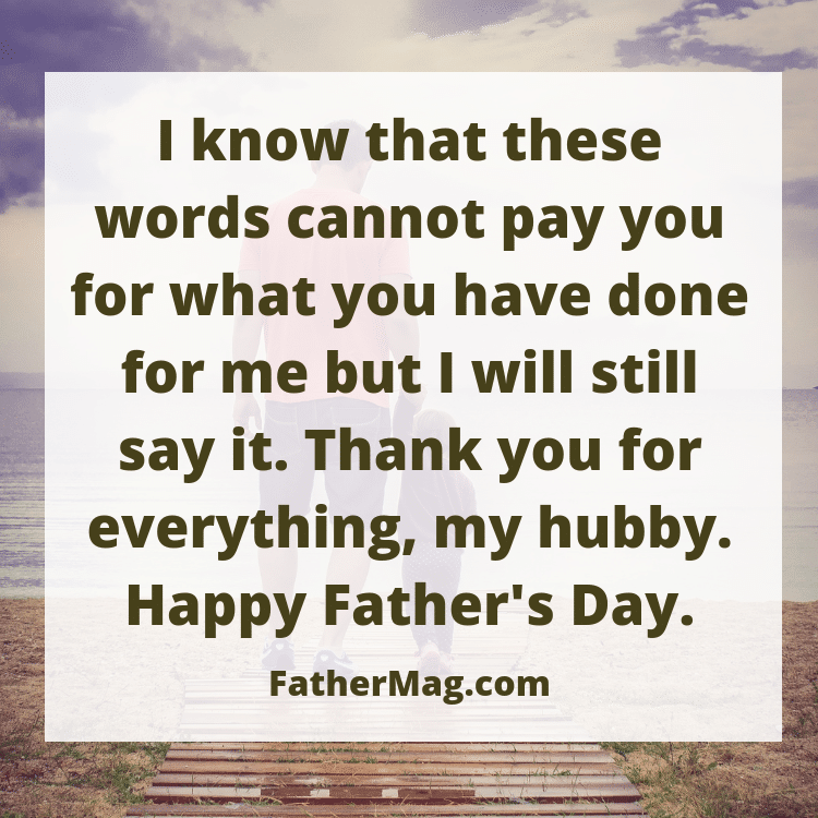 Father's day quote for husbands