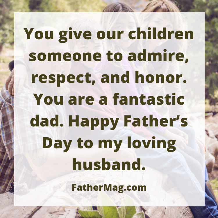 Father's day message for husbands