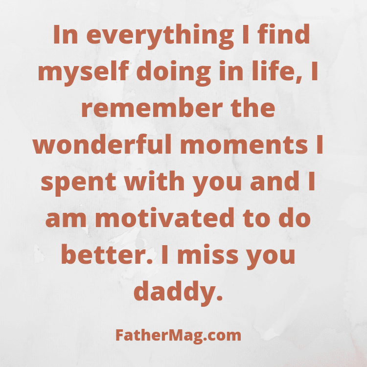 missing dad quote